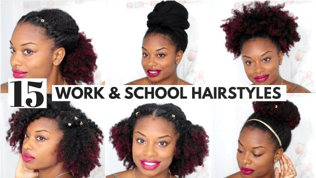 15 easy natural hairstyles for work and back to school