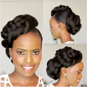 natural hair bridal style updo
