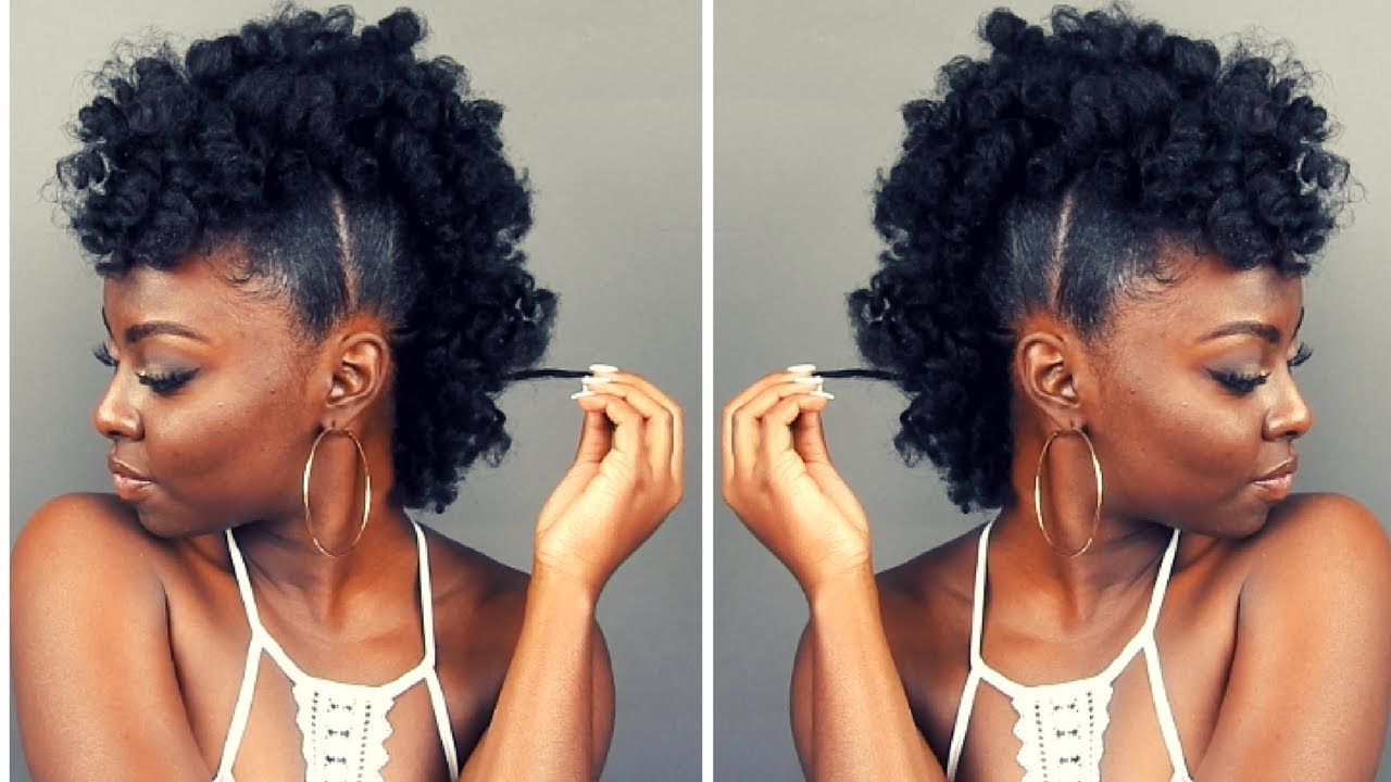 Natural Hairstyle Fluffy Pony Frohawk Video Black Hair