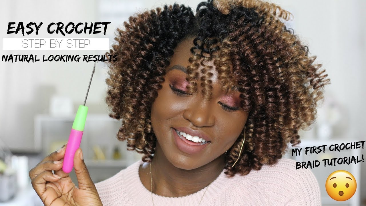 Natural Looking Crochet Protective Style Video Black