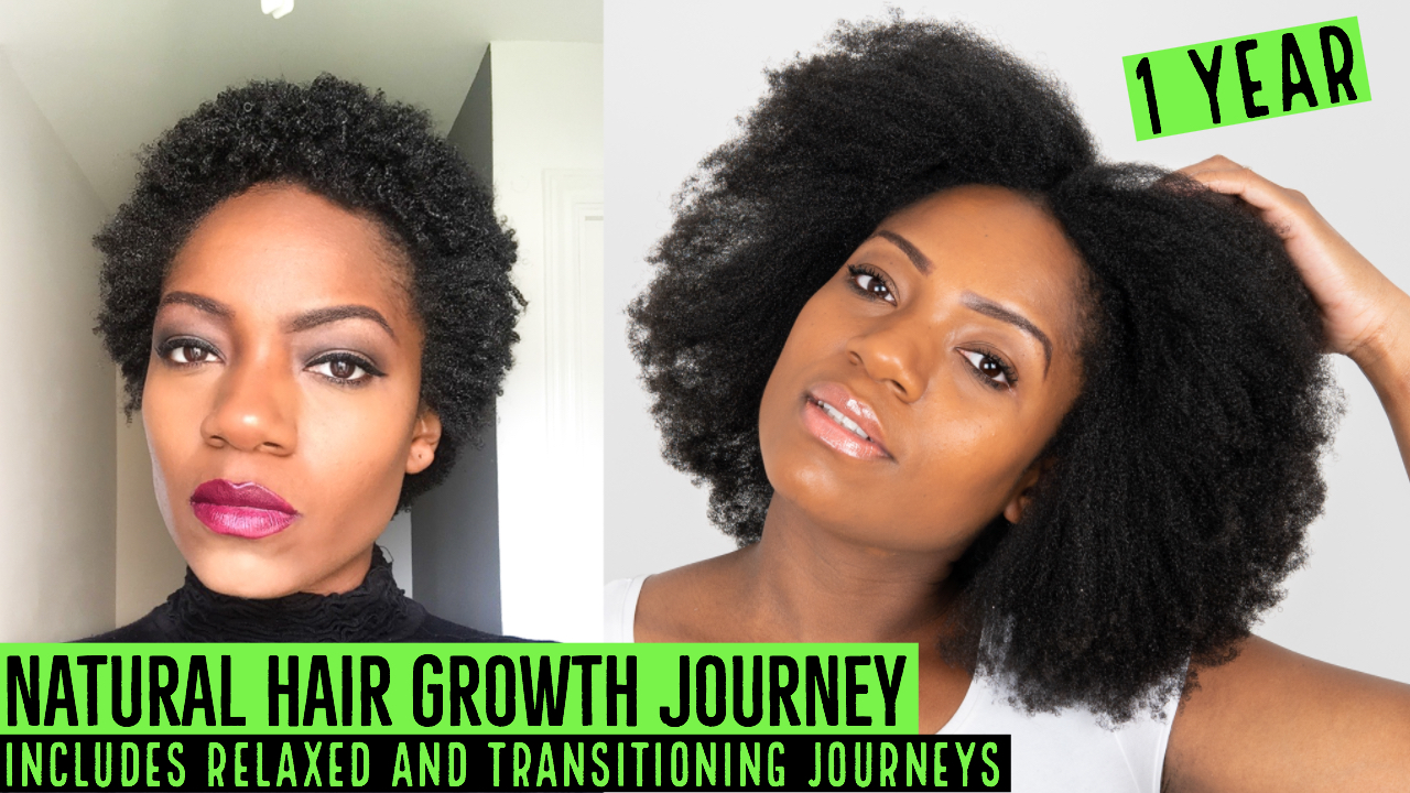 1 Year Natural Hair Journey - Includes Relaxed and ...