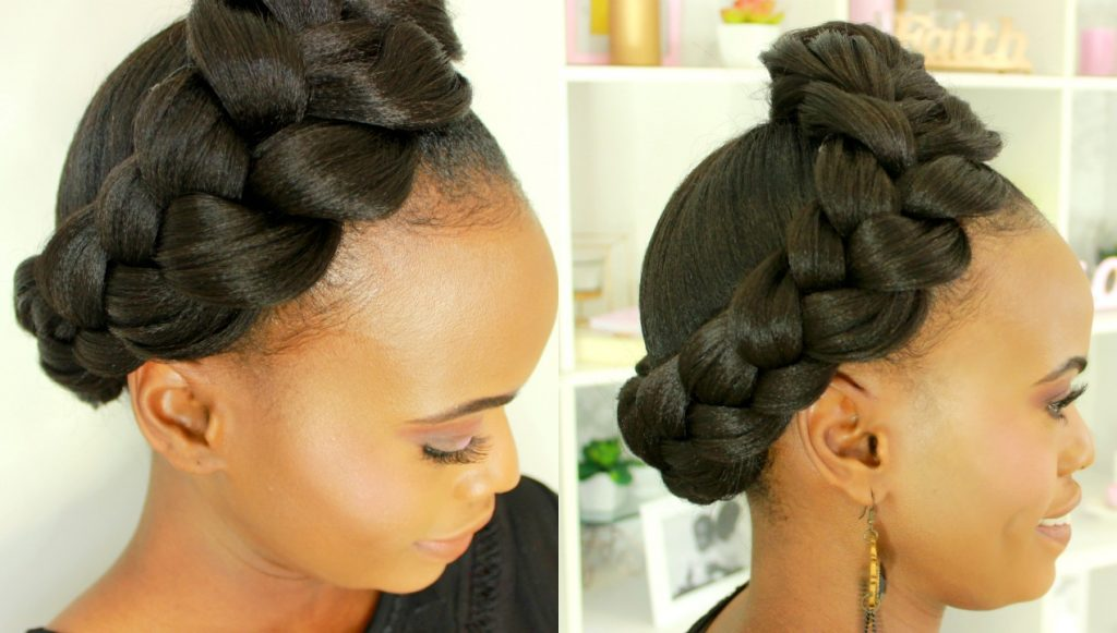 Braided Natural Hairstyle Quick Easy Black Hair Information
