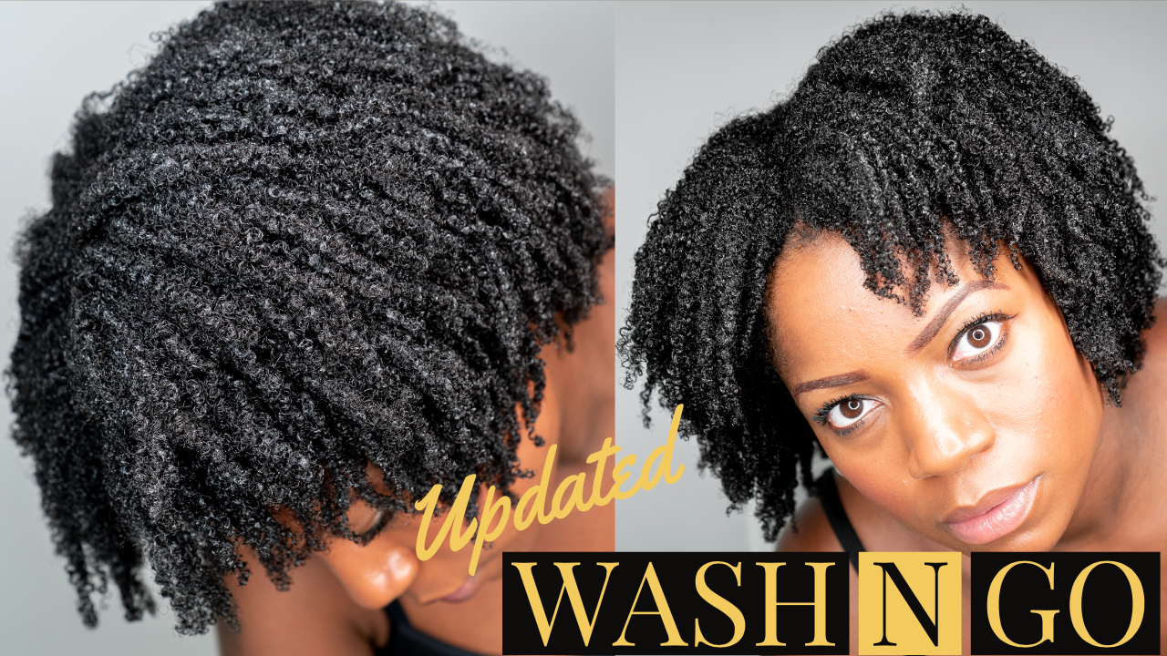 Wash N Go On Short To Medium Length 4b 4c Natural Hair Video