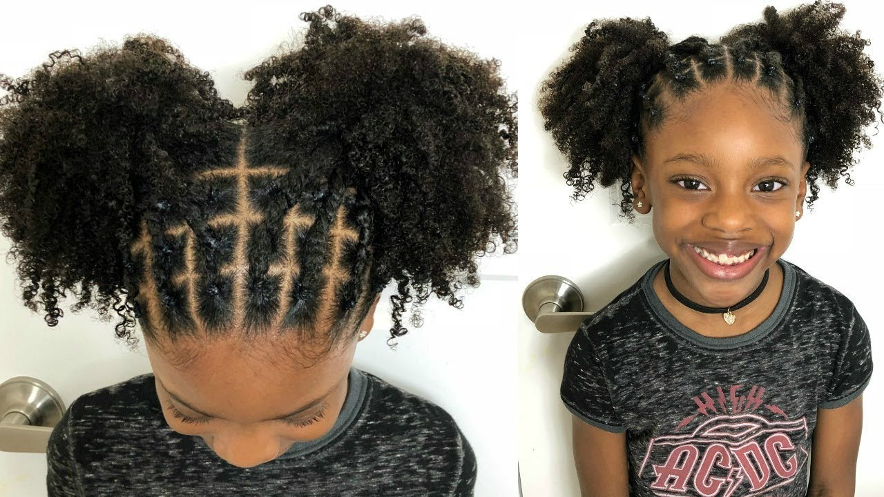 Kids Natural Hairstyles Rubber Band Protective Style On Natural