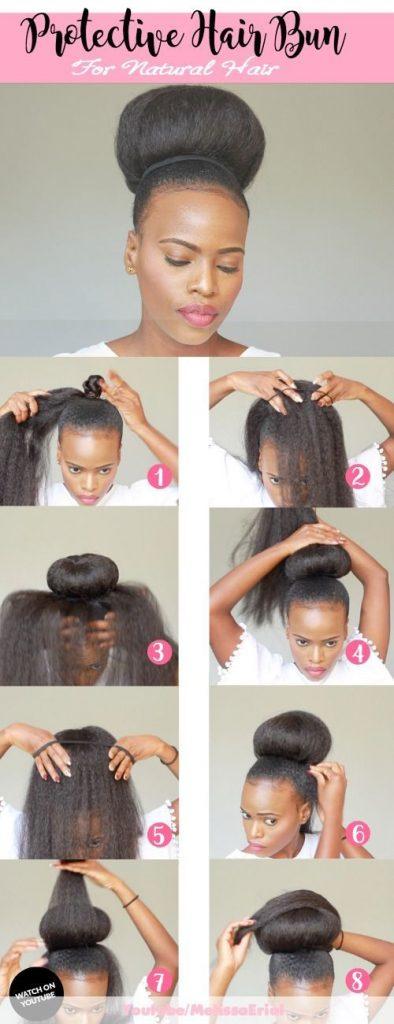 Hair Bun Protective Style For Natural Hair Mosaiccreations