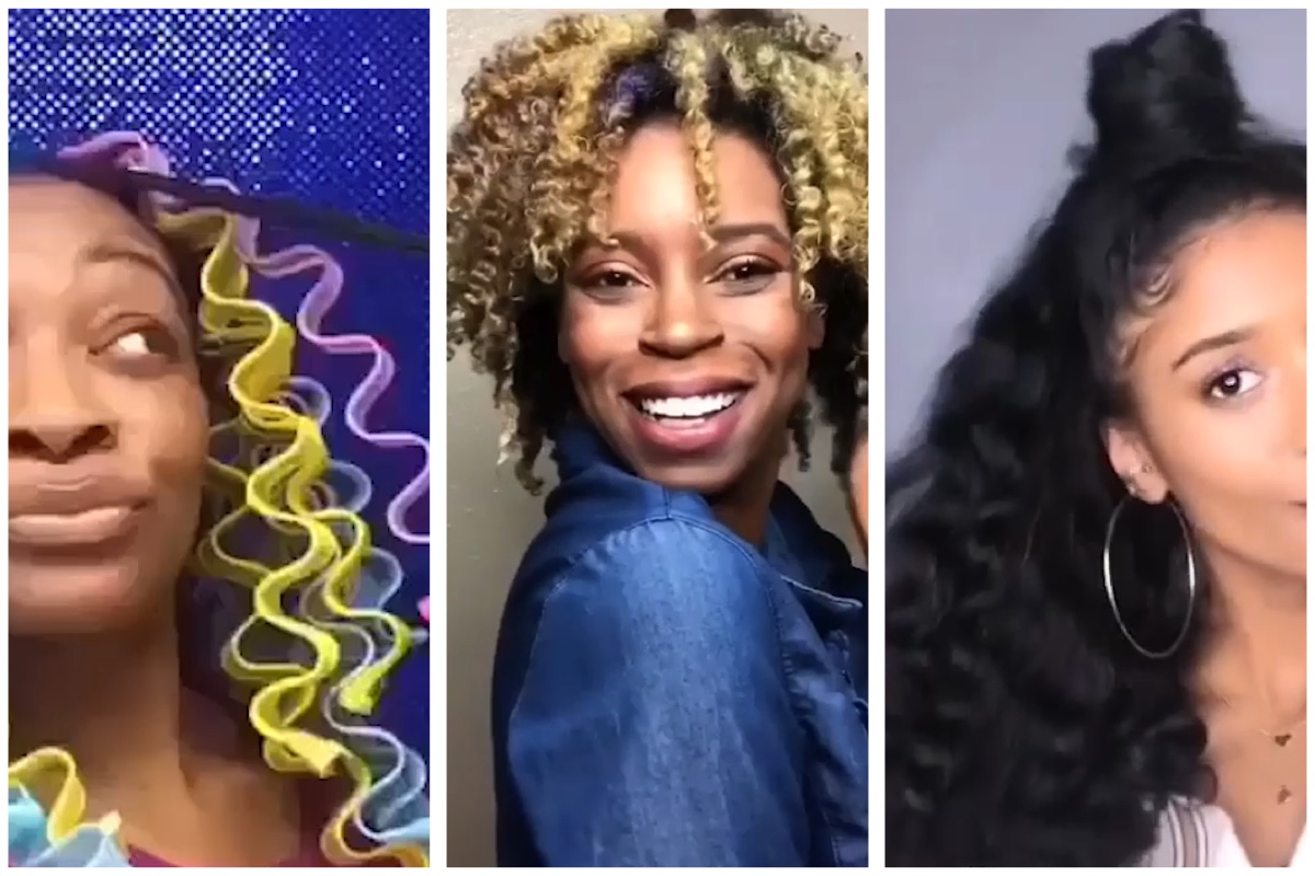 Fluffy Natural Hairstyles Big Afro Wash N Go Flexi Rod Set On
