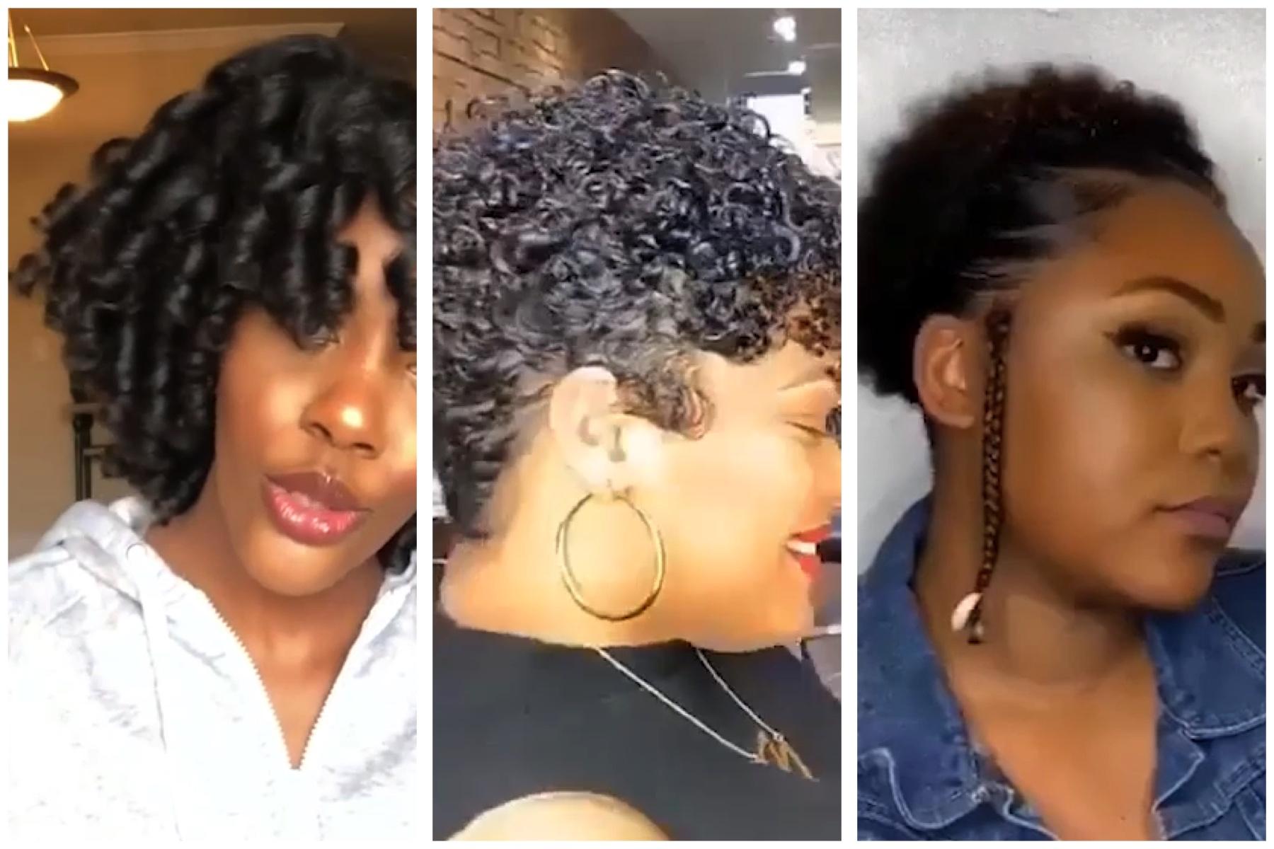 Simple Natural Hairstyles Flexi Rod Set Flat Ironing Twist