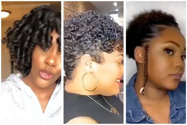 simple natural hairstyles - flexi rod set, flat ironing