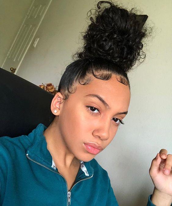 Curly Bun Natural Hair Bun Styles