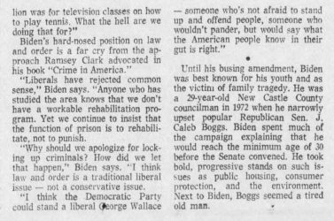 Another newspaper talking about his admiration of George Wallace
