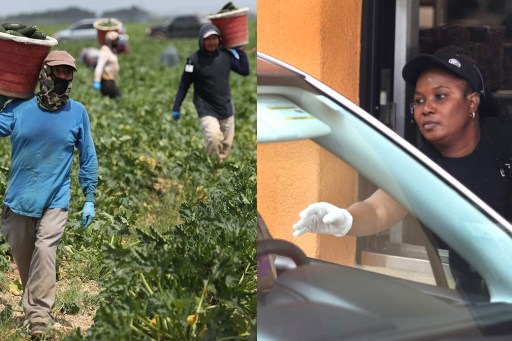 colonized farm worker and drive through worker