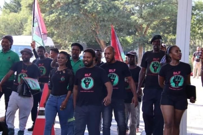 Members of BLF marching