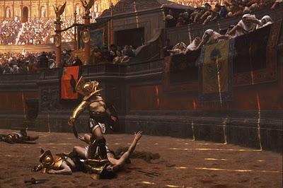 Gladiator in arena