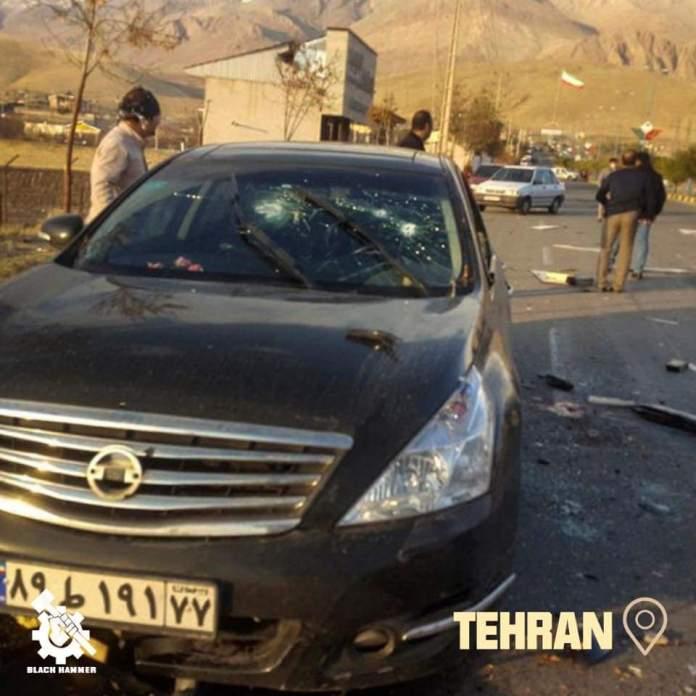 Mohsen Fakhrizadeh car after assassination