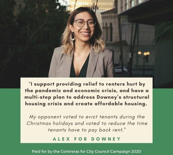 Alex for Downey progressive campaign poster