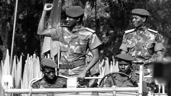 a photo of Thomas Sankara and comrades