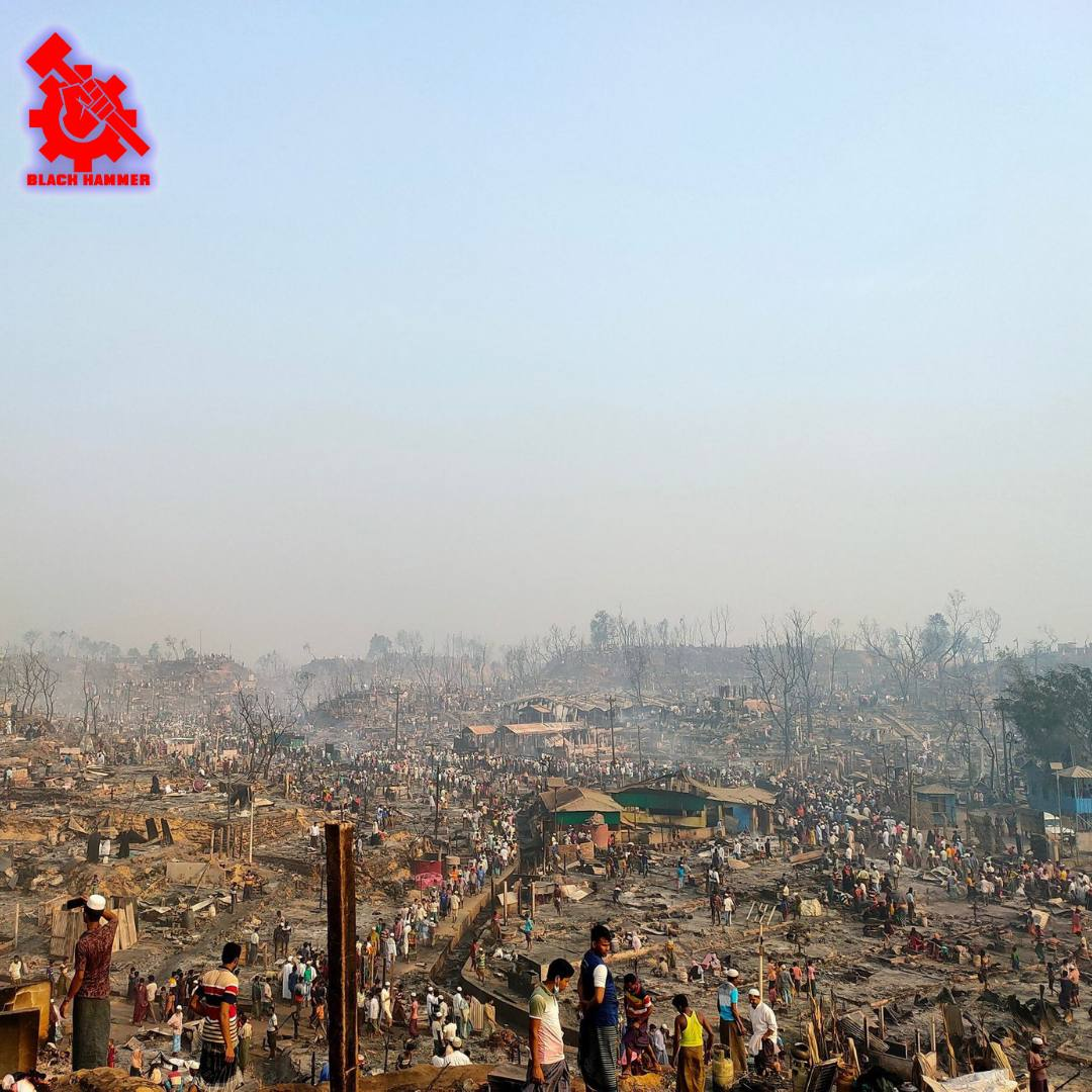 Rohingyan Refugee Camp Burned To The Ground