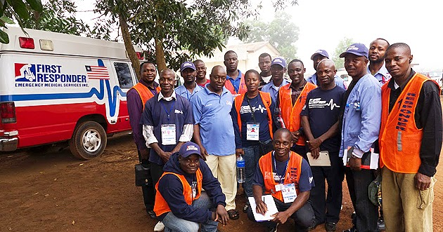 20 Liberian staff joining their Sierra Leonean colleagues in the fight to end Ebola, 2015