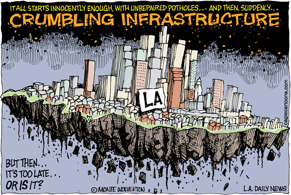 Crumbling Infrastructure artwork by Monte Wolverton