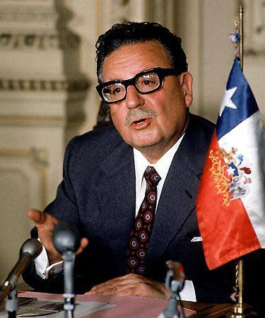 Color photo of the one and only, Salvador Allende