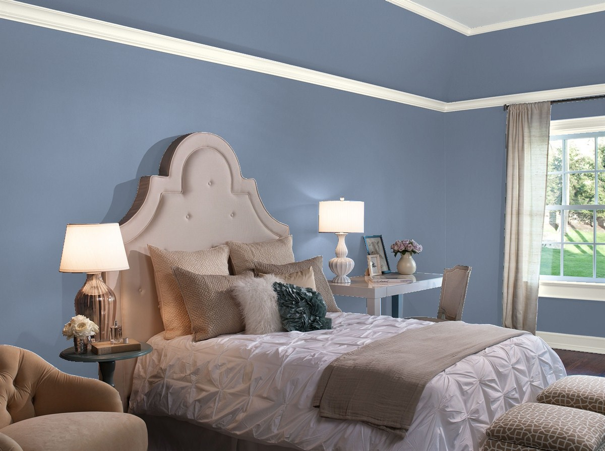 Our Favorite Blue Bedroom Paint Colors by Benjamin Moore