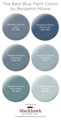 Our Favorite Blue Bedroom Paint Colors by Benjamin Moore ...
