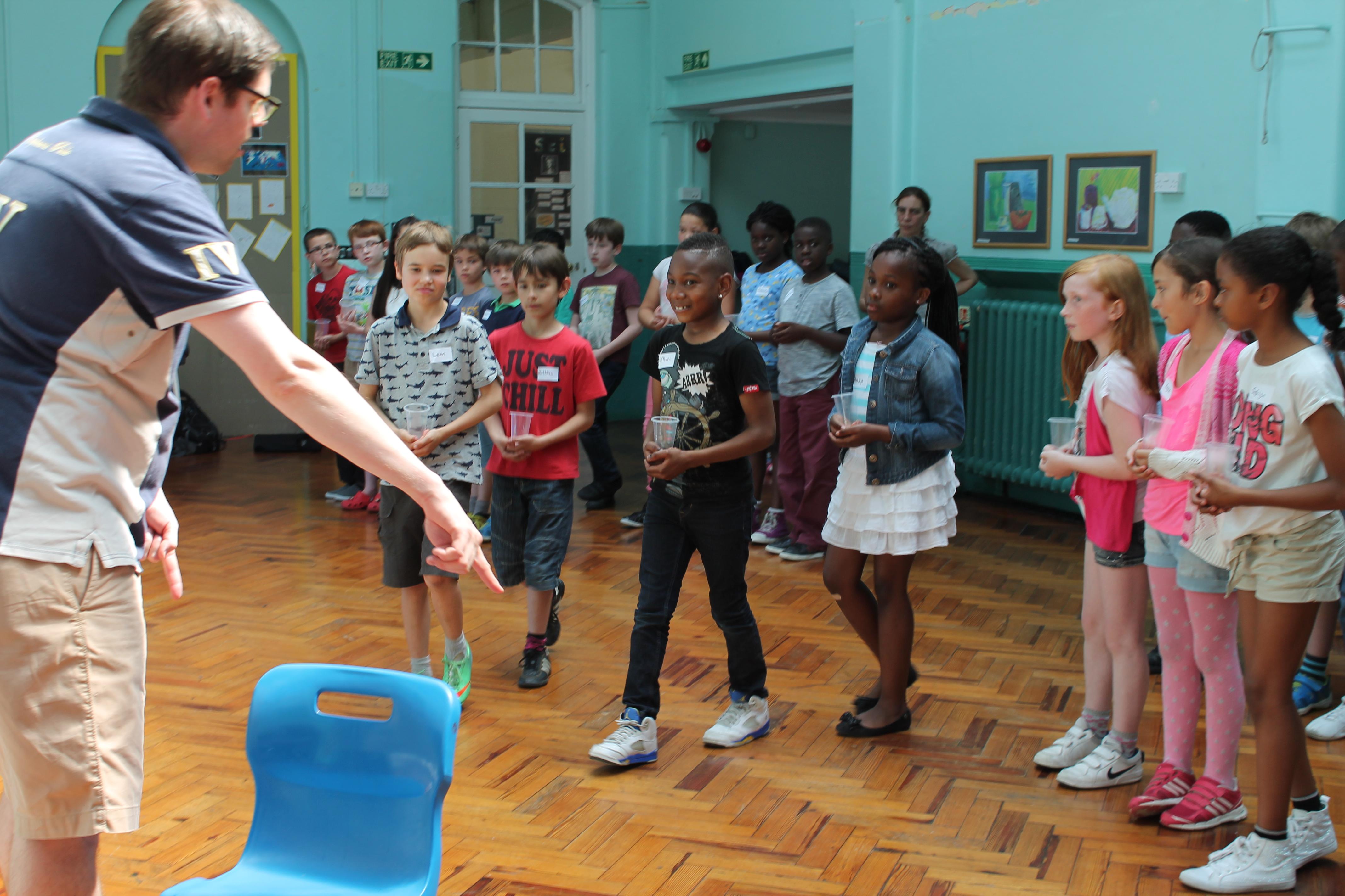 Rehearsal at Lee Manor Primary School  Blackheath Halls Opera