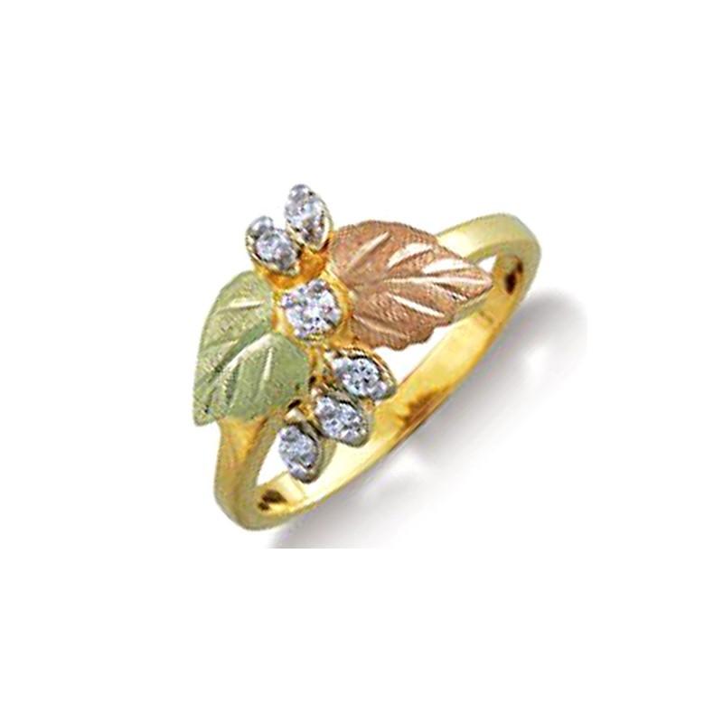 Landstroms Ladies Black Hills Gold .15Tw Diamond Ring with