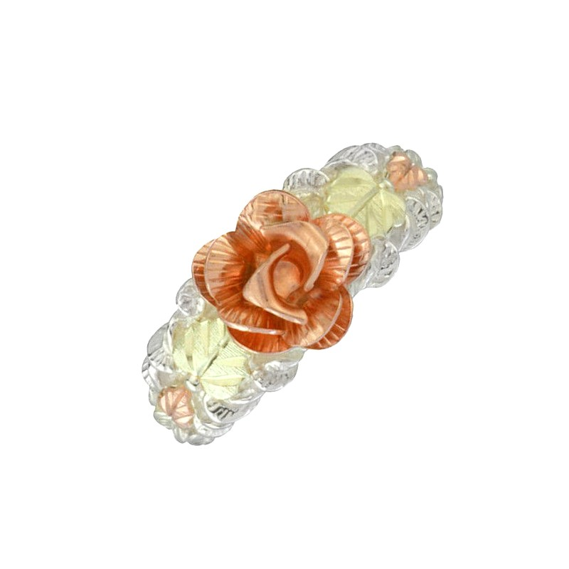 Black Hills Sterling Silver & Gold Dakota Rose Ring