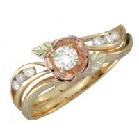 Coleman Black Hills Gold Diamond Engagement Wedding Ring ...