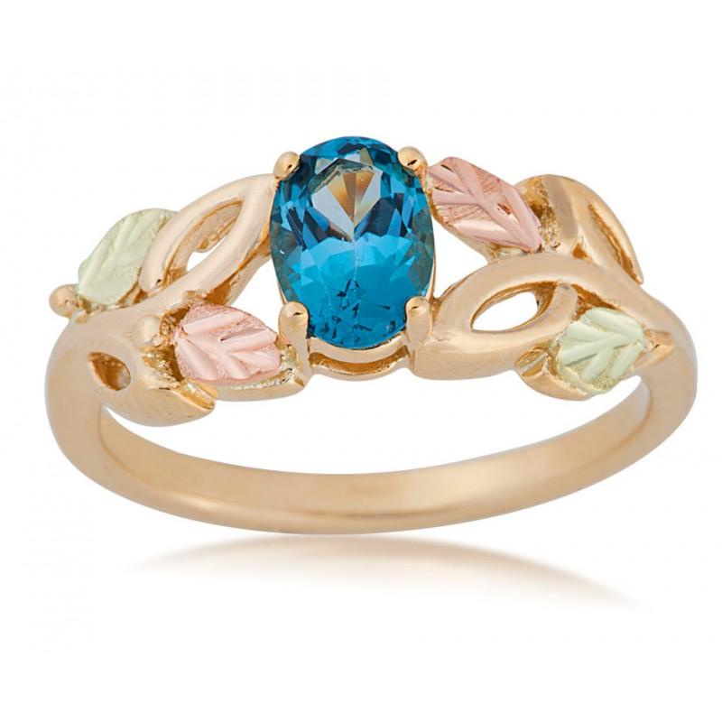 Landstrom's Black Hills Gold Genuine Blue Topaz Ring