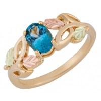 Landstrom's Black Hills Gold Genuine Blue Topaz Ring ...