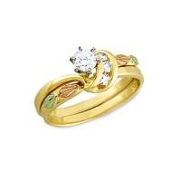 Landstrom's 14K Black Hills Gold .34TW Diamond Wedding ...