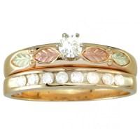 Exquisite Black Hills Gold Diamond Engagement Wedding Ring ...