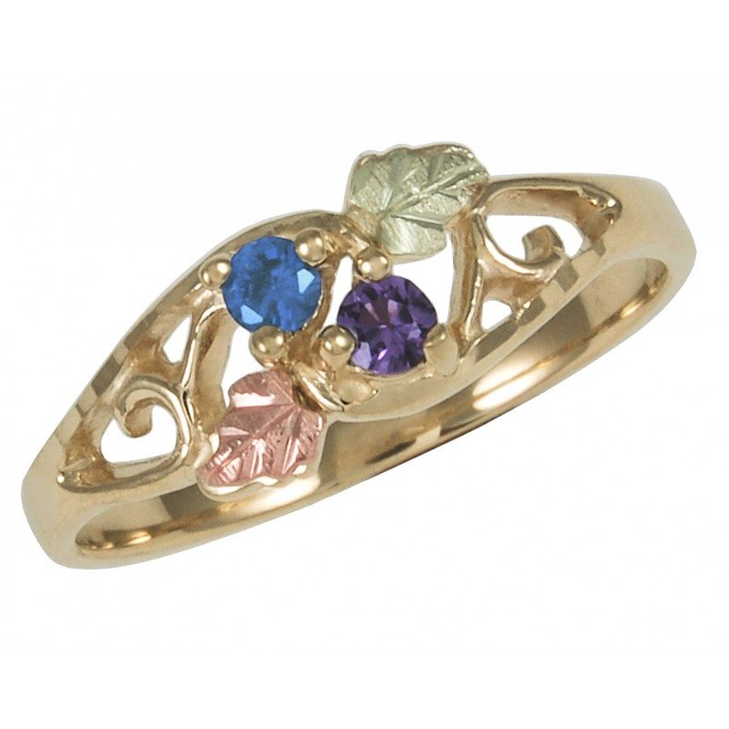 Black Hills Gold Family Birthstone Ring 1 6 Stones