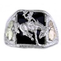 Black hills gold men's eagle ring