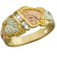 10k Black Hills Gold Mens .06tw Diamond Ring ...