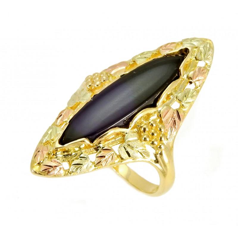 Landstrom's() Black Hills Gold Onyx Ring