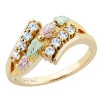 Landstrom's Stunning 10k Black Hills Gold Women's Ring w ...