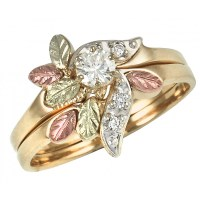 Black Hills Gold and .21 CT TW of Diamond Engagement Ring ...