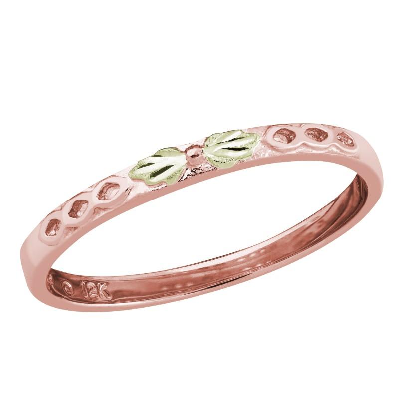 Landstrom's Black Hills Gold Stackable Rose Gold Ring