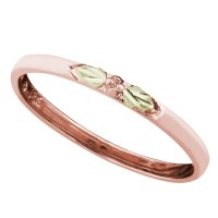 Landstrom's Black Hills Gold Stackable Rose Gold Ring