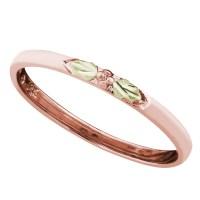 Landstrom's Black Hills Gold Stackable Rose Gold Ring ...