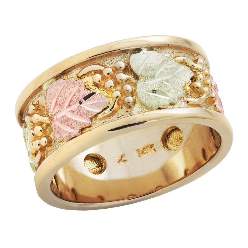 14k Black Hills Gold Mens Wedding Ring BlackHillsGold