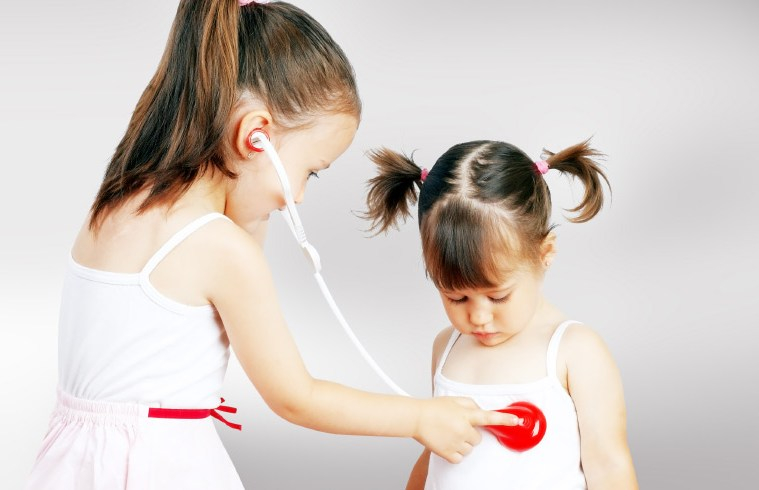 kids health playing doctor