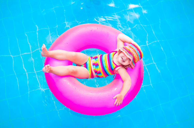 Girl on Floatie