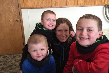 Mom with 3 Boys