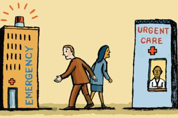 Cartoon Urgent Care Emergency Room