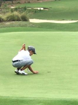 Vince Golfing