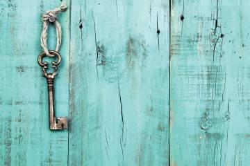 Key Blue Background
